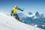 Skier in high mountains - 202193146