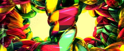 Abstract geometry background. Multicolored abstraction. 3D rendering - 202195912