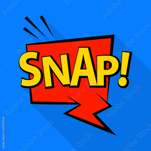 Canvas Pop Art Snap icon. Pop art illustration of snap vector icon for web