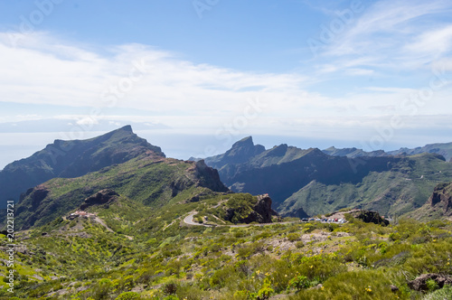 View of the mountains in the region of the village of Masca in the north west of 'island of Tenerife in SPAIN - 202213721