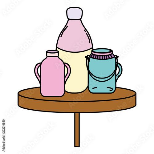 color preserve mason glass jar in the table