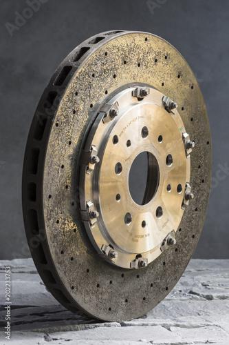 Fotobehang F1 Disques de freins automobile en carbone céramique
