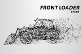 Front loader from the particles. Wheel loader removes the ground - 202240178