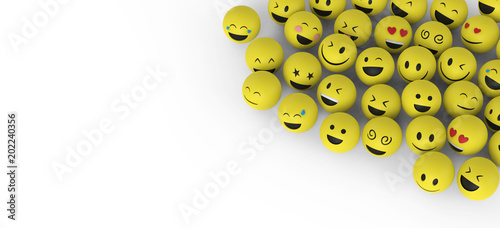 Glückliche Smileys