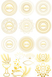 Set of Christian First Communion symbols