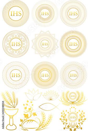 Set of Christian First Communion symbols