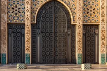 Door in Hassan II Mosque