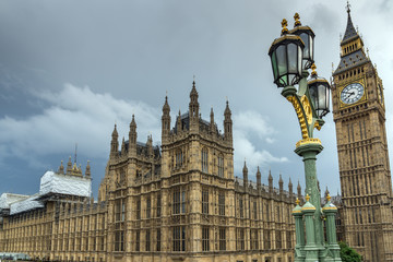 Houses of Parliament, Westminster Palace, London, England, Great Britain