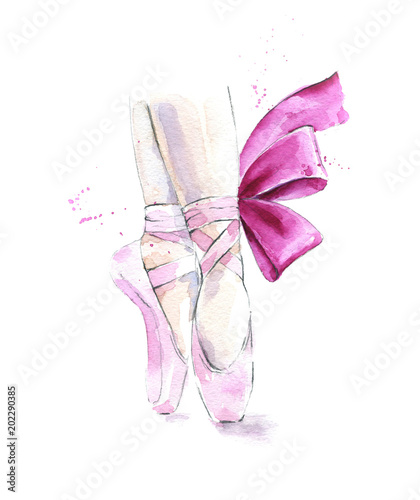 Ballet shoes illustration © Lora