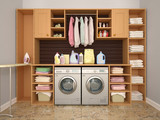 Design room for washing and cleaning. 3d illustrator - 202295538