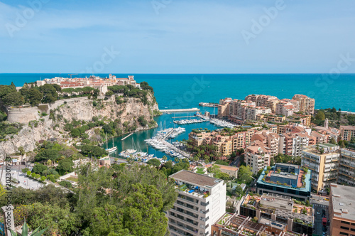Aluminium Palace of Monaco seen from the exotic garden