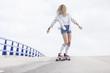 girl rider skate board