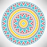 Ornamental round pattern. Tribal mandala. Geometrical circle isolated on white background. Vector illustration. - 202332751