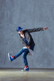 Young beautiful male dancer posing in studio - 202345927