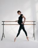 Young beautiful ballerina is posing in studio - 202346761