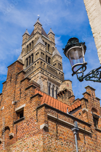Fotobehang Brugge Brugge cityscape - Belgium