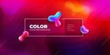 Liquid color background design. Fluid shapes composition. Futuristic design posters. Eps10 vector. - 202349155