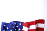 Background flag of the United States of America for national federal holidays celebration and mourning remembrance day. USA symbolics. - 202360345