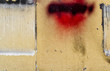 Abstract wall with red spot. Abstract  grunge background