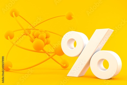 Science background with percent symbol © Talaj