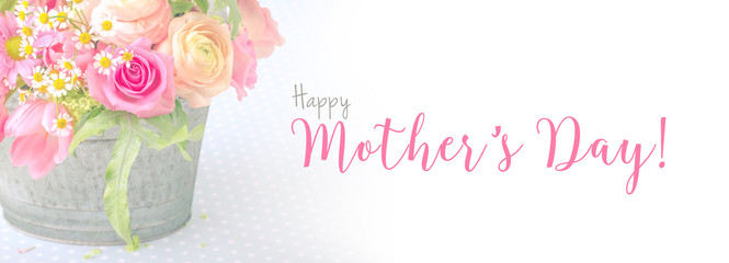 Happy Mothers Day  Background  -- Greeting Card  --  Panorama, Banner © Floydine