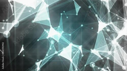abstrakter-geometrischer-hintergrund-mit-beweglichen-linien-und-punkten-zyklische-animation