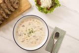 Lunch clam chowder