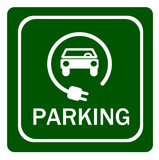 Electric vehicle parking sign - 202415739