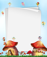Mushroom House  Fairies Template Sticker