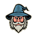 Wizard Head Mascot - 202434552
