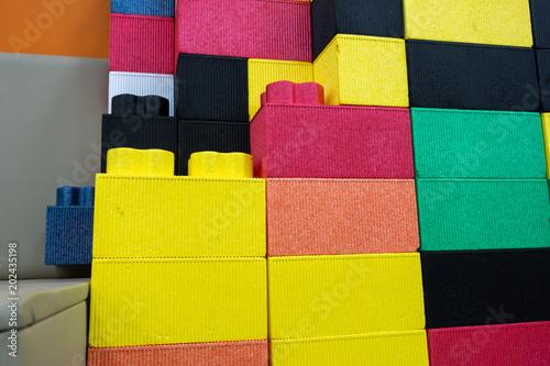 Colorful kids EPP foam toy blocks. Children safe toy