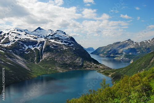 Norway. Glacial lakes with blue clear water