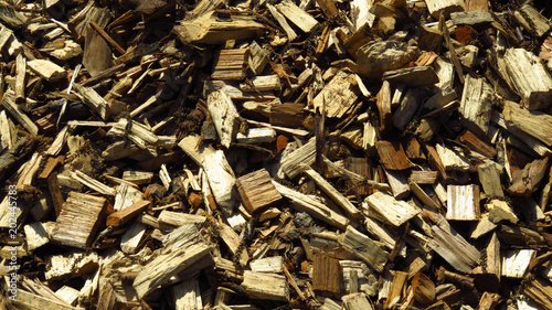 Close-Up of Wood Shavings for Background