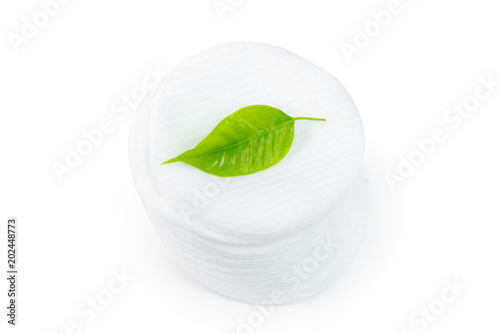cotton sponges isolated on white background