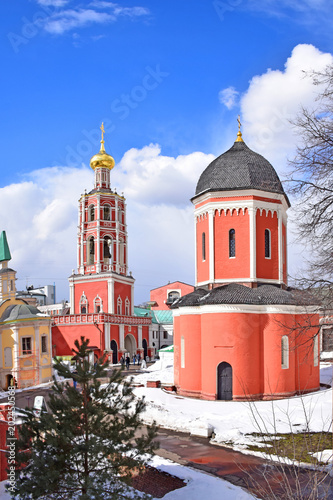 The Temple of Metropolitan Peter and the Gateway Church of the Intercession of Our Lady are in the territory of the High-Petrovsky Monastery founded in 1315 by the Metropolitan of Kiev Peter. Moscow,