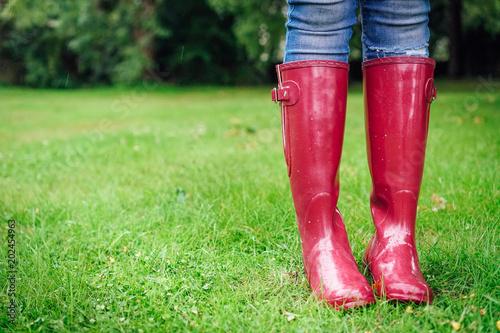 Wellies On Rainy Day