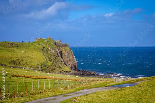 Ruin of Duntulm Castle, North coast of Trotternish, Isle of Skye, Scotland