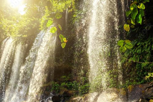 The Phnom Kulen waterfall, Siem Reap, Cambodia.