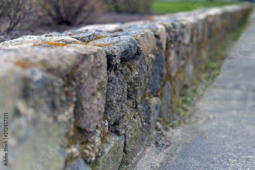 Stone wall made of granite