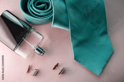 Set of stylish men accessories