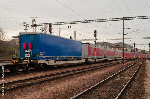 cargo containers at Budapest station
