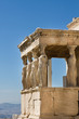Figures of Caryatids Porch of the Erechtheion on the Parthenon on Acropolis Hill, Athens, Greece