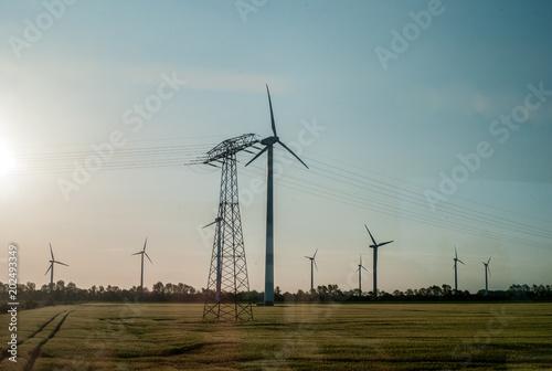 Windpark in Mitteldeutschland