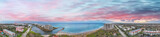 Boca Raton aerial sunset panoramic view, Florida coastline - 202493981