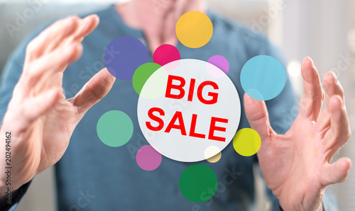Concept of big sale