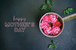 Mother's Day roses for pretty pink flower graphic for the holiday.