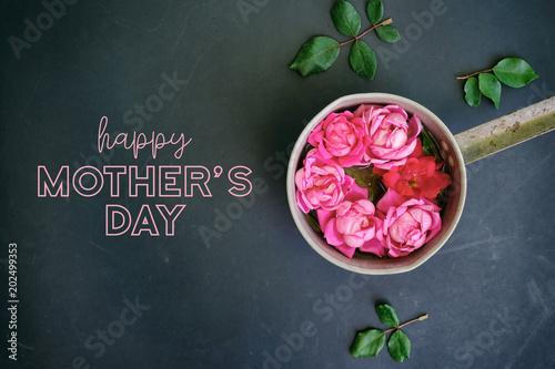 Dzień matki róże dla ładny różowy kwiat graficzny na wakacje.