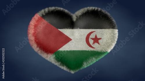 Cuore bandiera della Repubblica Democratica Araba Sahraui.