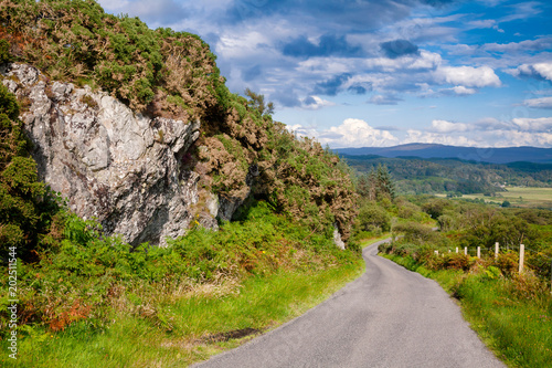 Scenic country road in Scottish Highlands