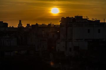 Cuban sunset, Havana, Cuba